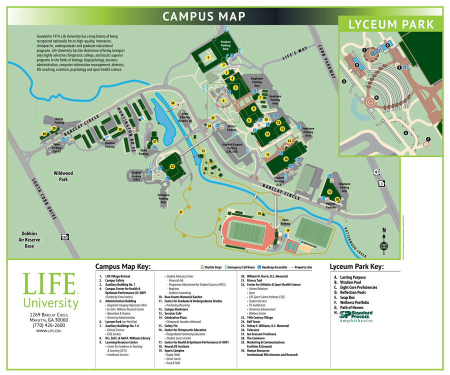 campus maps life university a world leader in holistic health