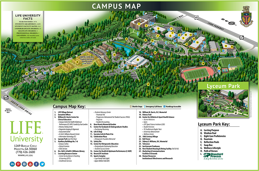 Life U 3d Map 0817 Life University A World Leader In Holistic