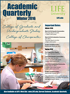 cover image of Life University's Winter 2016 Academic Quarterly