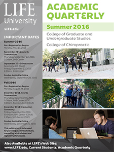 cover image of Life University's Summer 2016 Academic Quarterly