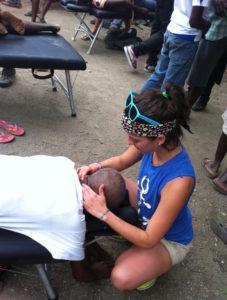 Rosana Lopez Rodriguez Adjusting Haiti Mission Trip