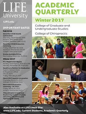 cover image of Life University's Winter 2017 Academic Quarterly