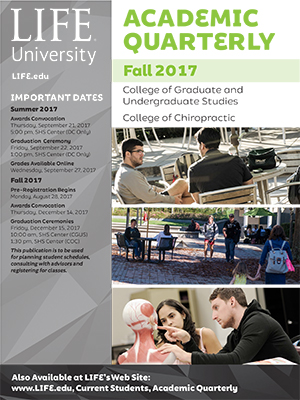 Cover image for Life's Fall 2017 academic quarterly
