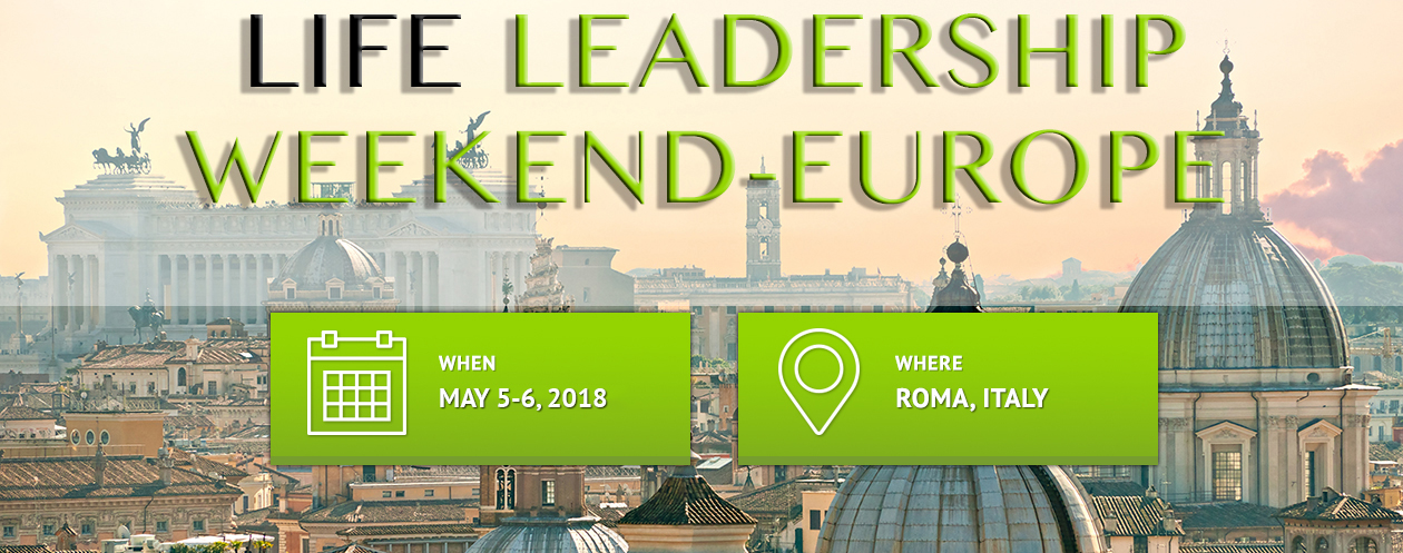 Life Roma Leadesthip Weekend 2018 Banner